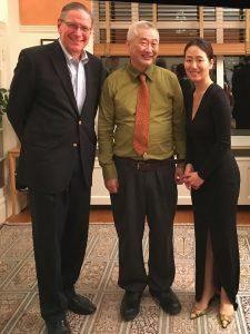 Robin Shoemaker with Chen Kim and Younji Lee, February 2019